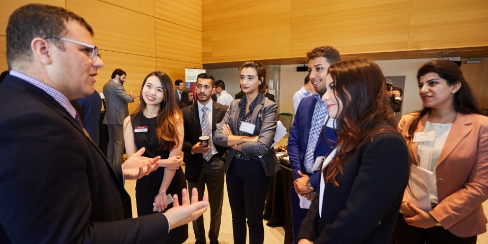 Telfer Connects - Students Networking with Employers