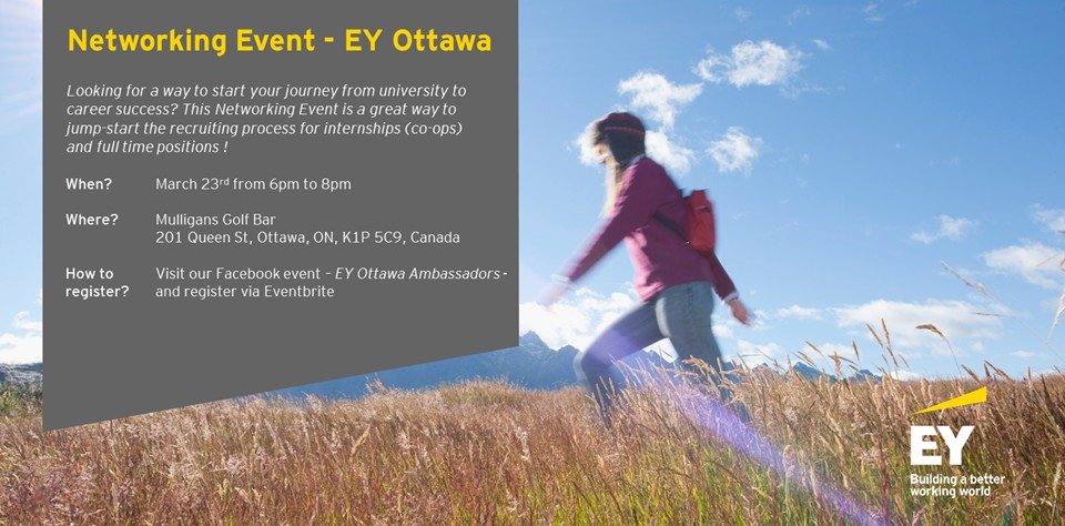 Hors campus - Networking Event - EY Ottawa (en anglais)